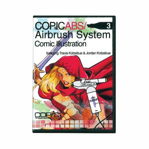 Copic Markers Air Brush System, Comic Illustration DVD 3