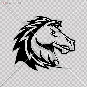 Amazon.com: Sticker Aggressive Horse Color Print (8 X 6.8 Inch ...