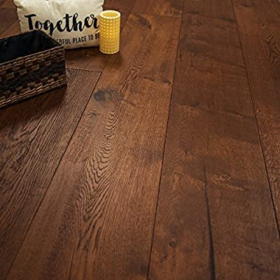 "Super Wide Plank 10 1/4"" x 5/8"" European French Oak (Tacoma) Prefinished Engineered Wood Flooring Sample at Discount Prices by Hurst Hardwoods"
