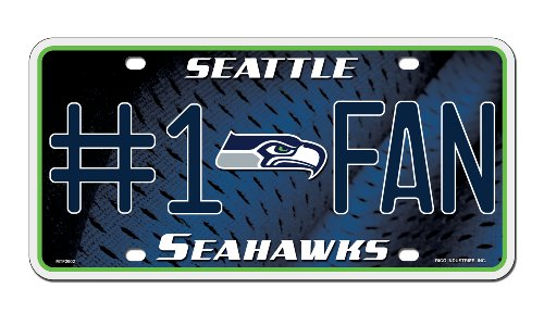 Seattle Seahawks Nfl Metal (NFL Seattle Seahawks #1 Fan Metal Auto Tag)