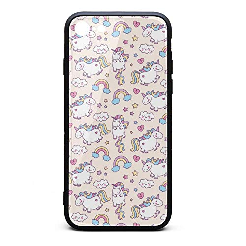 PPLYS iPhone 7/8 Case Love Unicorn Rainbow Ultra Slim Case Anti-Scratch Shockproof Protection Soft Silicone Rubber Cover Phone Case for iPhone 7/8 Case ()