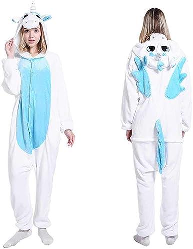 Pijama de una Pieza con Capucha para Mujer, diseño de Unicornio