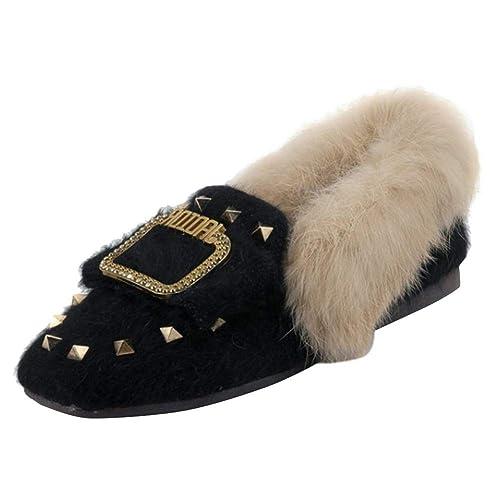 MissSaSa Mujer Dulce Winter Pump Mocasines: Amazon.es: Zapatos y complementos