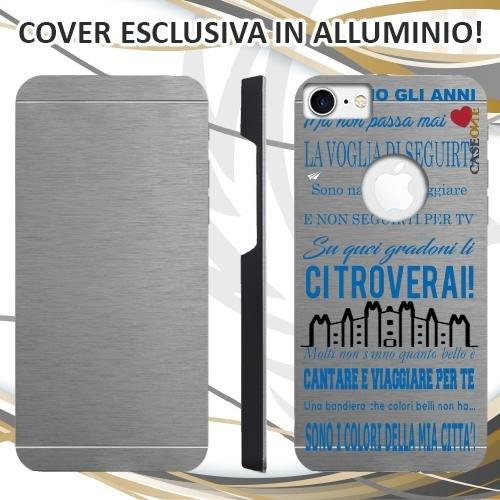 CUSTODIA COVER CASE CORO ULTRAS INTER PER IPHONE 7 ALLUMINIO TRASPARENTE