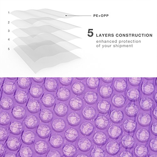 FU GLOBAL Purple Bubble Mailers 8.5x12 Inch #2 Padded Envelopes Pack of 25 Photo #5
