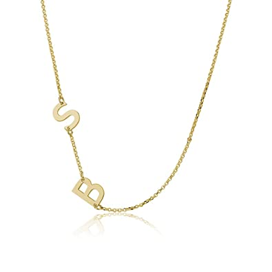 Sideways gold plated initial necklace initial pendant personalized sideways gold plated initial necklace initial pendant personalized necklace custom necklace letter mozeypictures Gallery