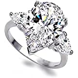 New Fashion Womens 925 Silver White Sapphire Wedding Engagement Ring Size 6-10#by pimchanok shop (7)