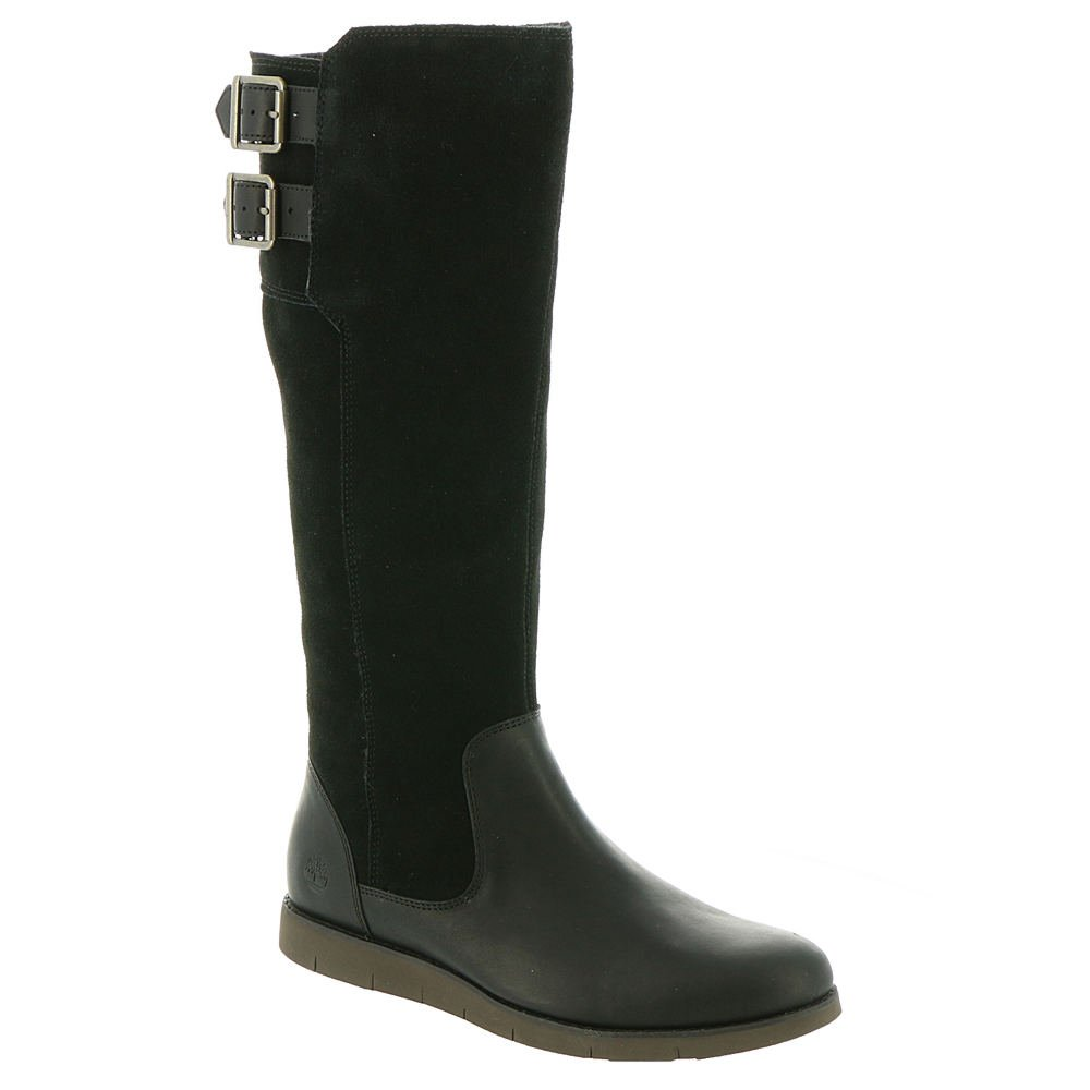 Timberland Women's Lakeville Tall Boot Black Full-Grain/Suede 6 B US