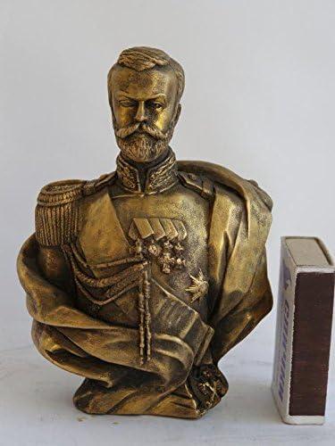 RUSSIAN TSAR ROMANOV NICHOLAS II NIKOLAY 2 STATUE H= BUST Max New sales 82% OFF BRONZE
