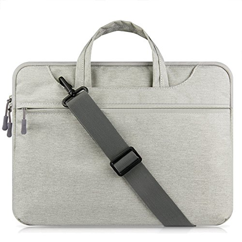 Multi-functional Bolsa de Transporte, Bolsa de Mensajero para 11.6 -15.6 inches Laptop / Tablet / Macbook / Notebook / Ordenador Gris