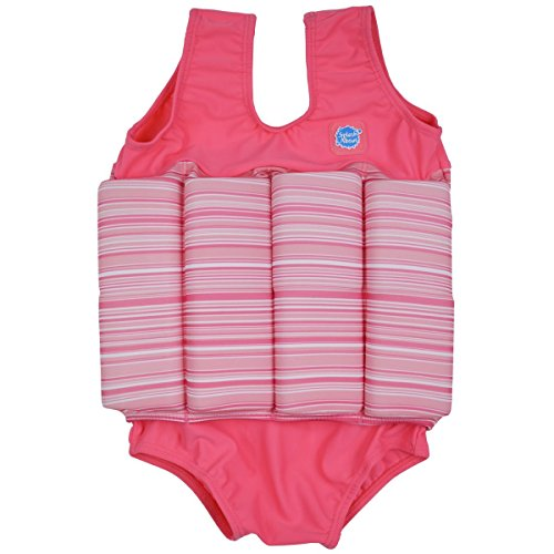 ions Float Suit - Adjustable Buoyancy, 1-6 Years ( 2-4 Years (Chest: 56cm   Length: 40cm)), Pink Classic (Classics Splash)
