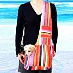 Water & Wood Pet Dog Cat Sling Carrier Shoulder Bag Oxford Cloth
