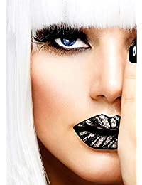 Silver Zebra Lips Sticker