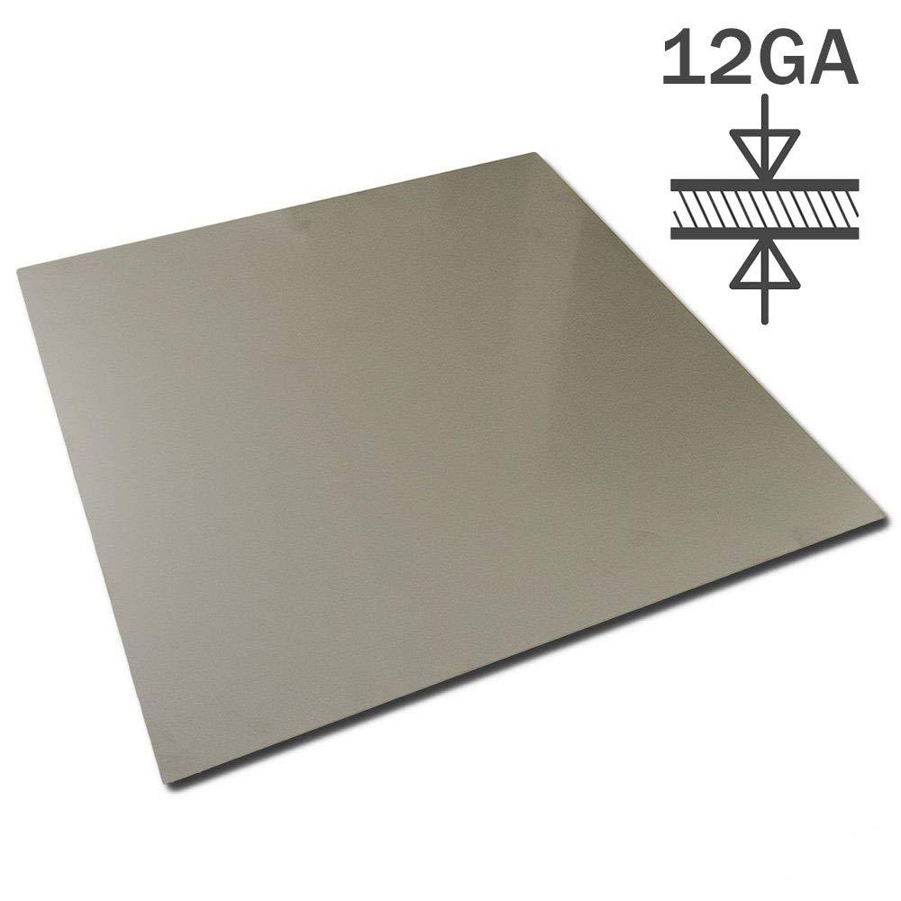 """12 GA   24/"""" X 24/"""" 304 2B STAINLESS SHEET"""