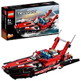 LEGO 42089 Power Boat Replica Building Set, 2 in 1 Model, Hydroplane SpeedBoat, Toy Boat Kits for Kids