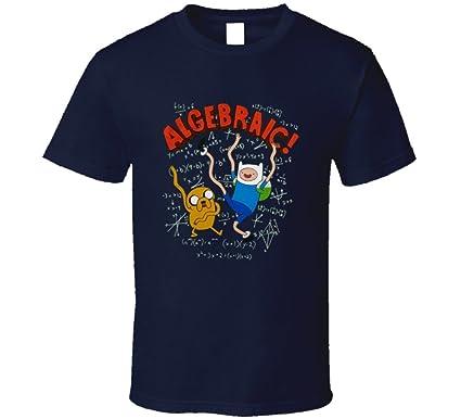 Adventure Time Algebraic Finn And Jake Cartoon Navy T Shirt