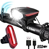 DARKBEAM Speaker Bicycle Headlight 250 Lumens 120dB Speaker Super Bright USB Rechargeable Bike Light, with A Super Bright Warning Taillight to Keep You Safe (Red) Review