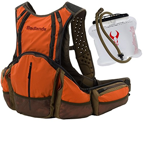 Badlands Upland High-Visibility Lightweight Bird Hunter's Game Vest & Interior Removable 2-Liter Hydration Reservoir