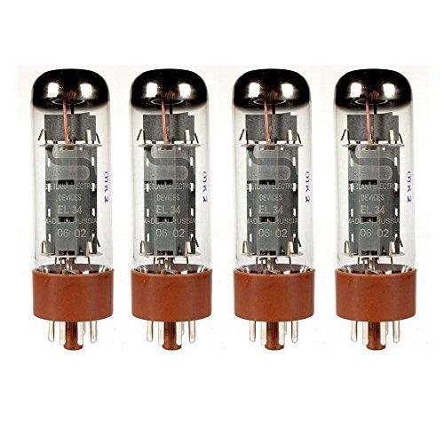 Svetlana EL34, Matched Quad (4 tubes) by Svetlana