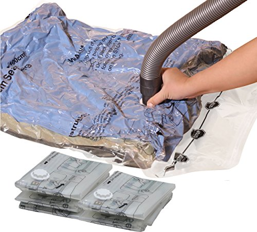 5 Pack - Extra Large Vacuum Storage Bags to Space Saver for Bedding, Pillows, Towel, Blanket, Clothes (26.5'' x 39.5'') by Simple Houseware