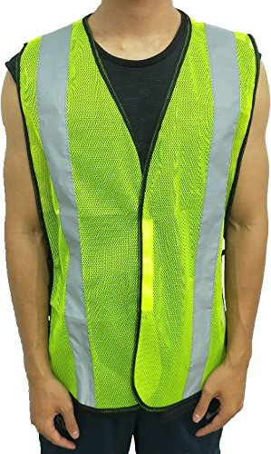 High Visibility Yellow Safety Vest By Reflectes – Breathable Reflective Security Vest For Men & Women With 2 Inch Reflective Strips- Ideal For Jogging, Running, Bike Riders, Traffic & Workers (12Pack) by Reflectes (Image #3)