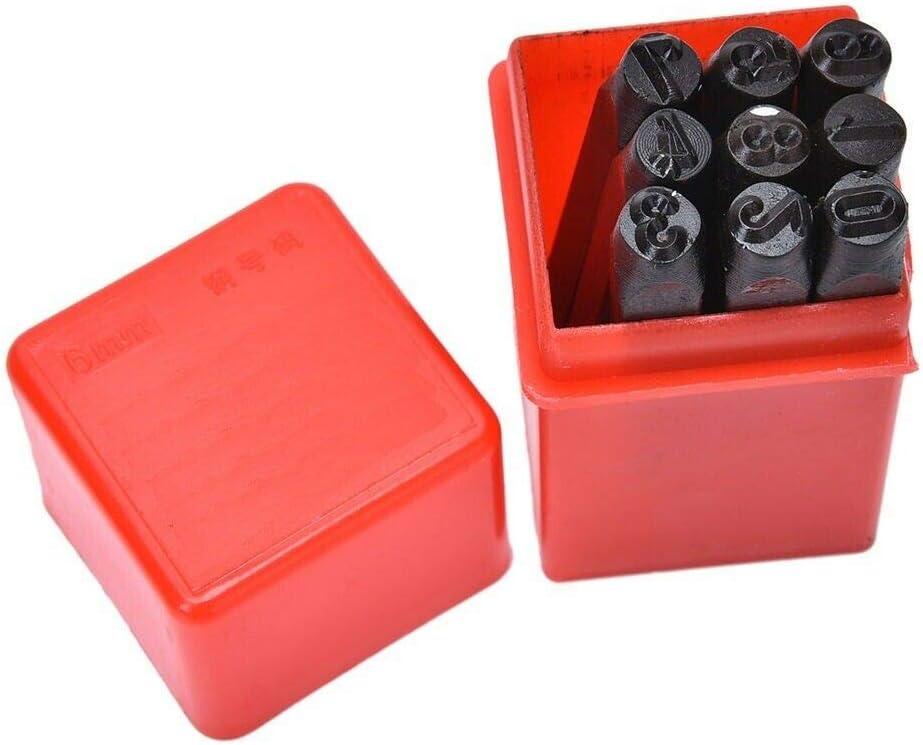 Rocwing Juego de sellos de metal para perforar letras o n/úmeros del alfabeto varios tama/ños