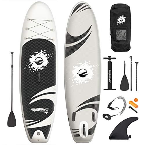 Inflatable Stand Up Paddle Board - 10' Ft. Standup Sup Paddle Board W/ Manual Air Pump, Safety Leash, Paddleboard Repair Kit, Storage / Carry Bag - Sup Paddle Board Inflatable - SereneLife SLSUPB06