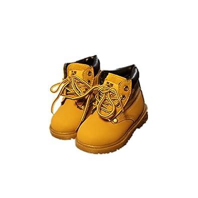 29a3e5b87b Classic Kids Booties New Snow Boots Boys Girls Martin Boots(Bronze1 EU 27 10