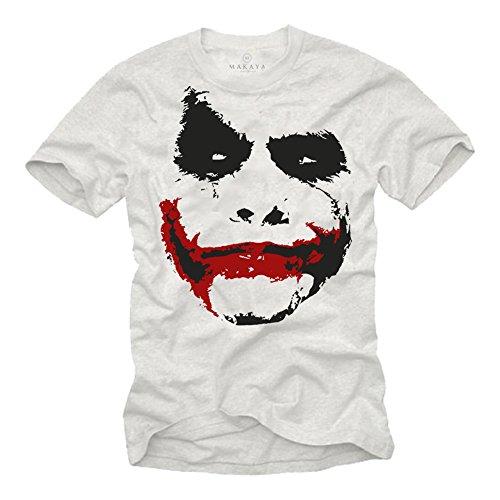 S Knight Dark Blanc Homme T xxxl Joker shirt Makaya xBYw57qq