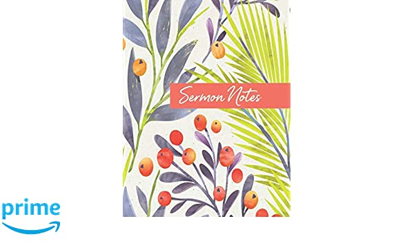 Amazon com: Sermon Notes: Colorful Christian Bible Study