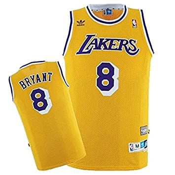 73e508aa56e4 Lakers 8 Kobe Bryant Yellow Hardwood Classics Jersey Size-S by Dominik   Amazon.co.uk  Sports   Outdoors