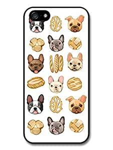 Cool Cute Funny Illustration Of French Bulldogs and Bread case for iphone 4s