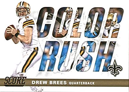Amazon.com  2017 Score Color Rush  11 Drew Brees New Orleans Saints ... 0c5769a65
