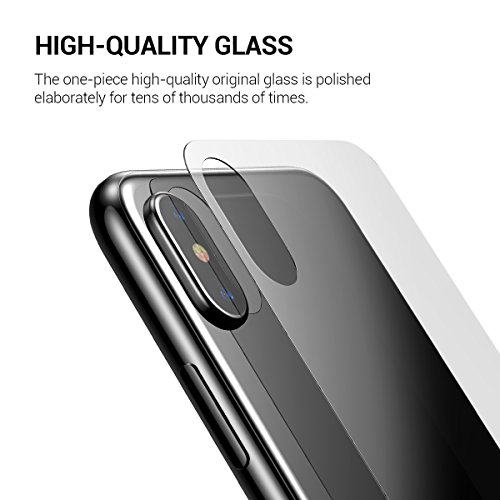 huge discount 741b1 5513d iPhone X Screen Protector, KuGi [ Front & Back Glass film suit ] Ultra-thin  Toughened 9H Hardness HD Clear...