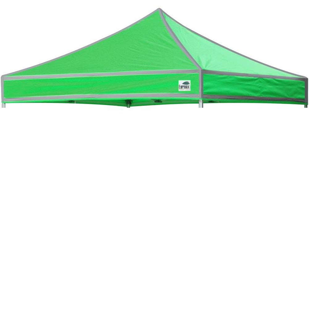 Eurmax New Pop up 10x10 Canopy Replacement Instant Ez Canopy Top Cover (High Vision Kelly)