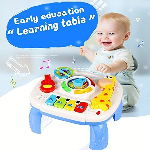 HOMOFY Baby Toys Musical Learning Table 6 Months Up- Early Education Activity Center Multiple Modes Game Kids Toddler Boys & Girls Toys for 1 2 3 Years Old Best Gifts