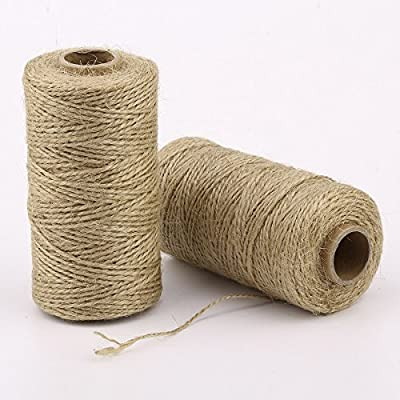ZRM&E 2pcs Natural Jute Twine String Multipurpose Hemp Rope for Wedding, Garden Decoration, Artworks, DIY Crafts : Office Products