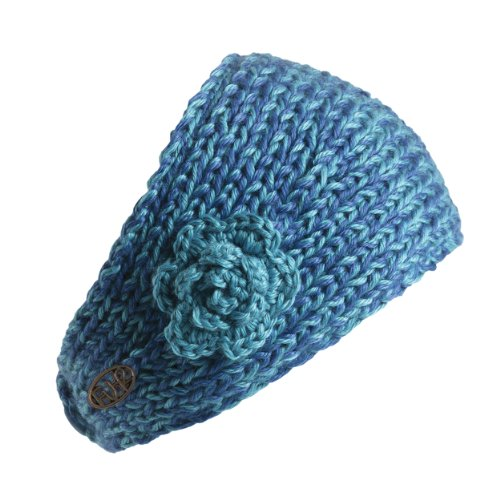 FU-R Headwear - Women's Toaster, Fleece Lined Hand Knit Headband, Crystal, One Size