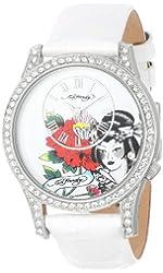 Ed Hardy Women's EL-WH Elizabeth White Watch