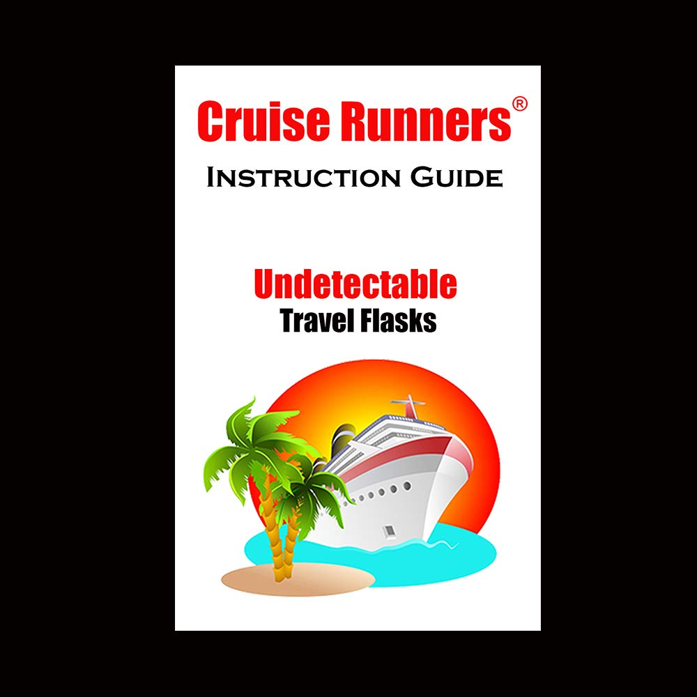 Fake Shampoo & Conditioner Bottles By CRUISE RUNNERS Hidden Liquor Alcohol Flask Kit For Cruise | Booze Bags Enjoy Rum Runners