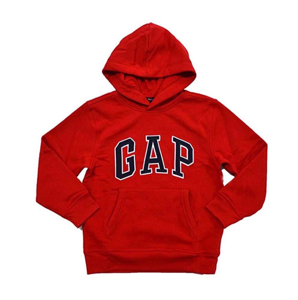 GAP Boys Fleece Arch Logo Pullover Hoodie (L, New Red)