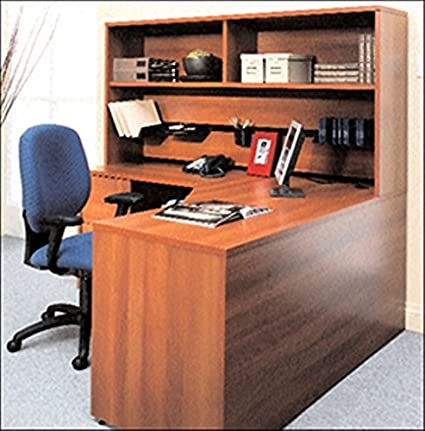super popular 20d83 9e356 Amazon.com: Global L Shaped Desk W/Hutch Extended Corner ...