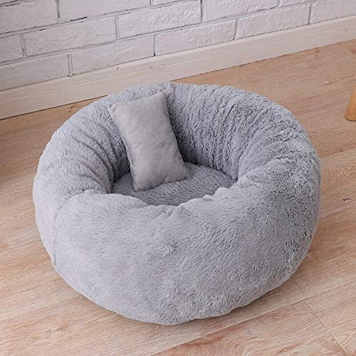 Aigou Dog Bed Round Pet Dog Cat Bed Kennels Washable Cat Small Doughnuts Winter Warming Dog House Bed Super Soft Plush Mats Dog Lounger Sofas
