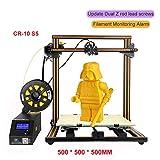 Creality CR-10 3D Printer Large Prusa I3 DIY Kit Large DIY Desktop Aluminum with Heated Bed 3D Printer DIY Education CR-10 Series (CR-10 S5, Orange)