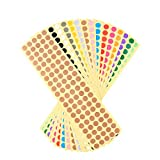 TOYMYTOY Round Dot Stickers Color Coding Labels,16 Different Colors,16 Sheets