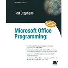 Microsoft Office Programming: A Guide for Experienced Developers