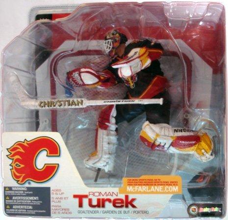 Mcfarlane Nhl Sports Picks - McFarlane Toys NHL Sports Picks Series 3 Action Figure Roman Turek (Calgary Flames) Black Jersey Variant