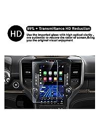 2019 Dodge Ram 1500 Uconnect pantalla táctil de coche pantalla de navegación Protector de pantalla, HD Clear vidrio templado película protectora contra arañazos de alta claridad