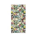 Society6 Bath Towel, 64'' x 32'', Floral and Birds III by burcukorkmazyurek