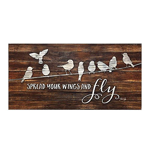 Spread Your Wings And Fly 24 x 12 Wood Decorative Sign Plaque ()